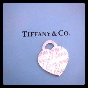 "Tiffany & Co. Heart Pendant ""I Love You"""
